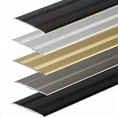 SELF-ADHESIVE ANODISED ALUMINIUM FLOOR BAR EDGE TRIM THRESHOLD PROFILE  930x35mm