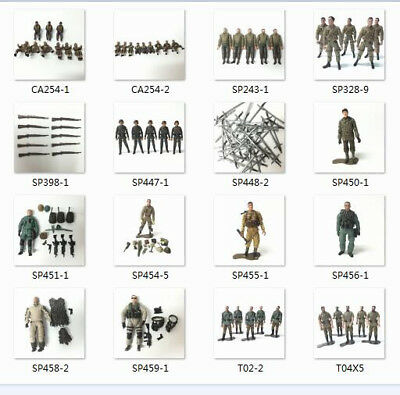 Lot of 21st Century Toys The Ultimate Soldier WWII German USA Army Action Figure
