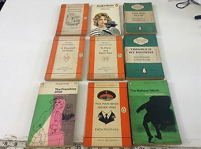 Vintage penguin paper backs job lot 9 Books