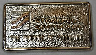 Sterling Software Advertising Paperweight - Vintage Computing