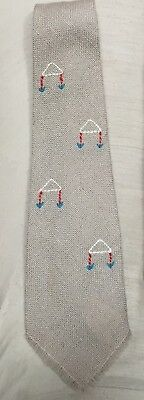 Vintage 1930'S Native American Indian TEWA Weaver Wool Necktie  FREE SHIPPING