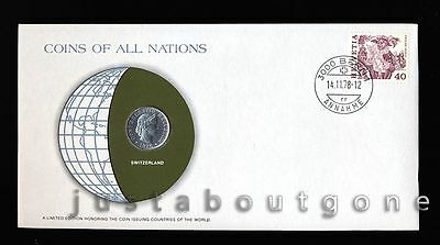 Lot141 Fdc Unc ─ Coins Of All Nations Uncirculated Stamp Cover