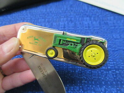 John Deere Franklin Mint 1948 Model B Tractor Collector Pocket Knife New