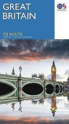Great Britain Route Map - 2017 - Os - Ordnance Survey - New
