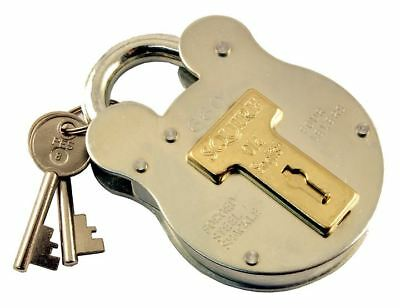 Squire Locks Old English Padlock 4 Brass Levers Steel Case Gate Shed - 64mm 660