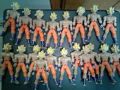 dragonball z action figure lot of 19. ss battle damage goku. RARE.