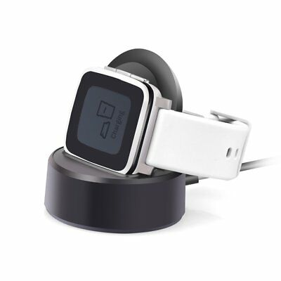 Pebble Time Charger,Pebble Time Steel Cable Charger Charging Stand,Itian Dock