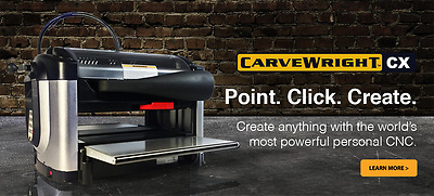 CarveWright CX Rotary Package CNC Milling Woodworker machine