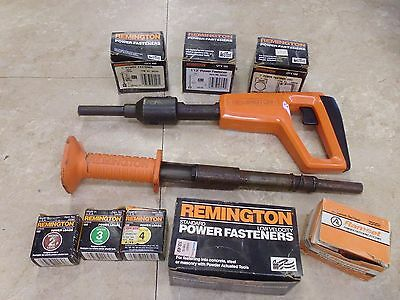Remington Powder Actuated Tools # 476 & # 490 with partial boxes of fasteners