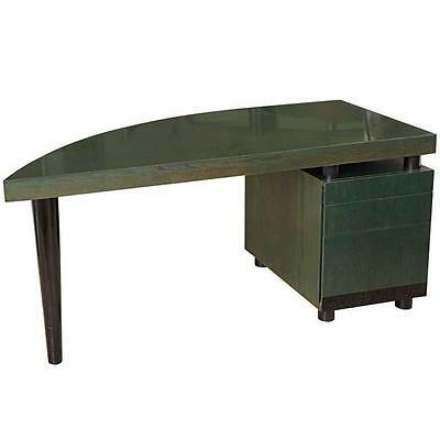 1980s Italian Bow-Front, Three-Drawer Desk by Saporiti