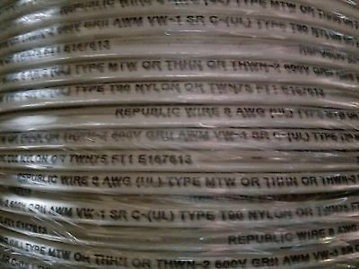 Republic #8awg THHN/THWN-2/MTW Stranded Copper Building Wire White /100ft