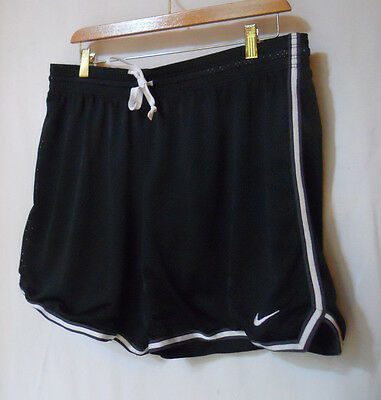 Nike Men's Basketball Shorts Black Mesh Large Dri Fit