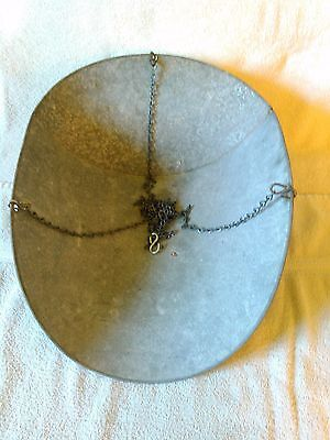 Vintage Hardware Galvanized Hanging Pan / Basket /Scoop with Chains for Scales