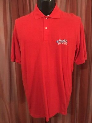 Vintage 1980's Cheers Boston Red Polo Size XL Stedman Made In The USA