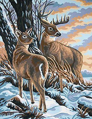 Grafitec Printed Tapestry Needlepoint Canvas - Stag and Doe