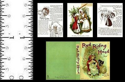 1:12 Scale Miniature Book Red Riding Hood 3 Pre 1900 Dollhouse Scale