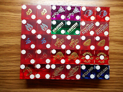 30 Casino Dice in 15 Different Pairs with Matching Numbers - Lot D4