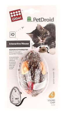 Rosewood GiGwi Cat Melody Chaser Activity Mouse (Assorted... *SAME DAY DESPATCH*
