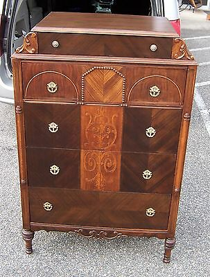 5 Drawer Chest of Drawers Cedar Lined Bottom Drawer