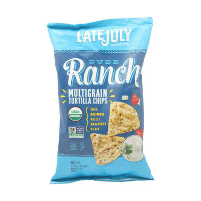 Late July Organic Dude Ranch Multi Grain Snack Chips, 5.5 Ounce -- 12 per case.