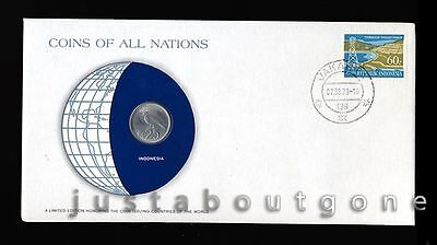 Lot183 Fdc Unc ─ Coins Of All Nations Uncirculated Stamp Cover