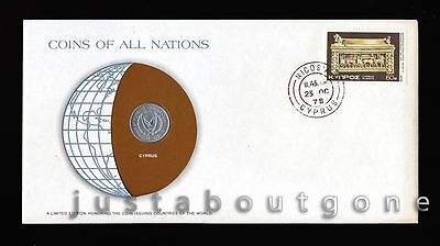 Lot148 Fdc Unc ─ Coins Of All Nations Uncirculated Stamp Cover