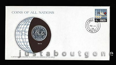 Lot149 Fdc Unc ─ Coins Of All Nations Uncirculated Stamp Cover