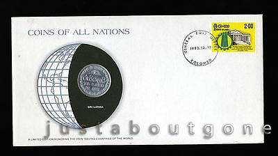 Lot188 Fdc Unc ─ Coins Of All Nations Uncirculated Stamp Cover