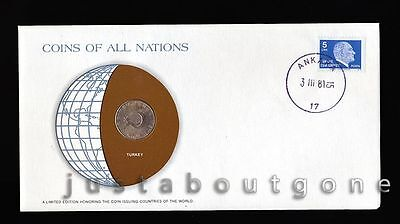 Lot187 Fdc Unc ─ Coins Of All Nations Uncirculated Stamp Cover