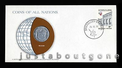 Lot145 Fdc Unc ─ Coins Of All Nations Uncirculated Stamp Cover