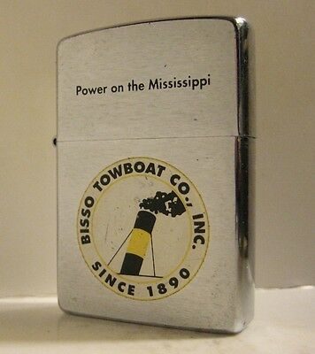 1994 Advertising Zippo Bisso Towboat Co Inc  Since 1890 Power On The Mississippi