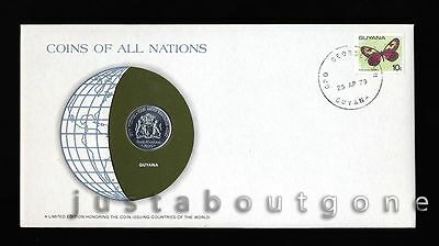 Lot193 Fdc Unc ─ Coins Of All Nations Uncirculated Stamp Cover