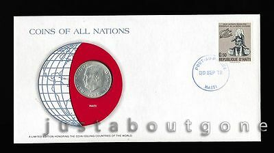 Lot156 Fdc Unc ─ Coins Of All Nations Uncirculated Stamp Cover