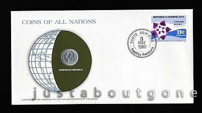 Lot170 Fdc Unc ─ Coins Of All Nations Uncirculated Stamp Cover