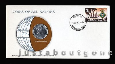 Lot147 Fdc Unc ─ Coins Of All Nations Uncirculated Stamp Cover