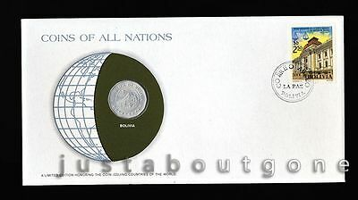 Lot169 Fdc Unc ─ Coins Of All Nations Uncirculated Stamp Cover