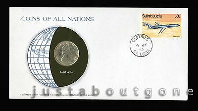 Lot172 Fdc Unc ─ Coins Of All Nations Uncirculated Stamp Cover