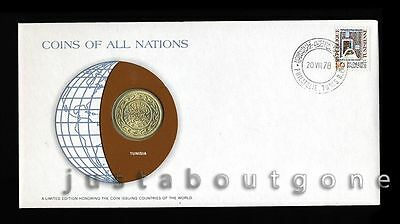 Lot195 Fdc Unc ─ Coins Of All Nations Uncirculated Stamp Cover