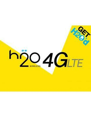 H2O Wireless $40 Monthly Unlimited Plan Talk, Text, 6GB Data, Same Day Refill!