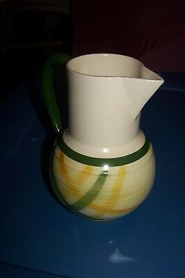 VERNONWARE Smell Pitcher GINGHAM Design; Handpainted