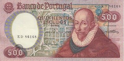 Portugal Banknote P# 177 500 Escudos 1979 Extremely Fine-Almost Uncirculated