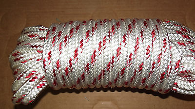 "7/16"" x 55' Double Braid Polyester Sail/Halyard Line, Jibsheets, Boat Rope -NEW"