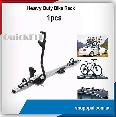 Aluminium Alloy Roof Rack Mounted Frame Holding Bike Bicycle Carrier Lockable x1