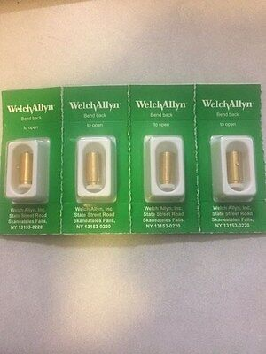 NEW WELCH ALLYN GENUINE 04900-U REPLACEMENT BULBS for 11720 11735; PACK OF 4