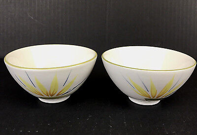 """Vintage Winfield Bird of Paradise Rice Bowl 4-1/2"""" Hand Crafted CA Set of 2"""