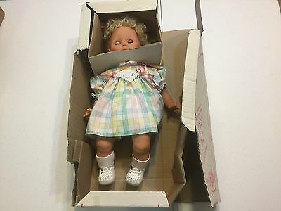 Vintage Zapf Creation Baby Doll In original box Made in W. Germany