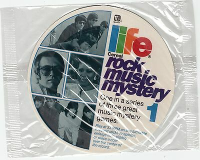 Life Cereal Rock Music Mystery records 1986 mint sealed set of 3