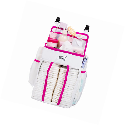 DaliWay Baby Diaper Organizer for Nursery (Pink)