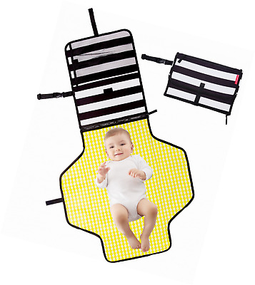 Baby Diaper Changing Pad Clutch - Portable Diaper Changing Station for Baby Newb