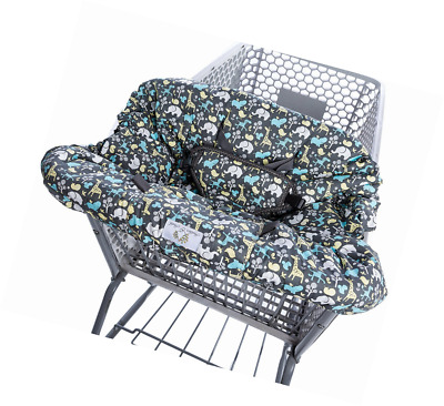 Heather and Heath 2-1 Premium Grocery Shopping Cart Cover and High Chair Cover,
